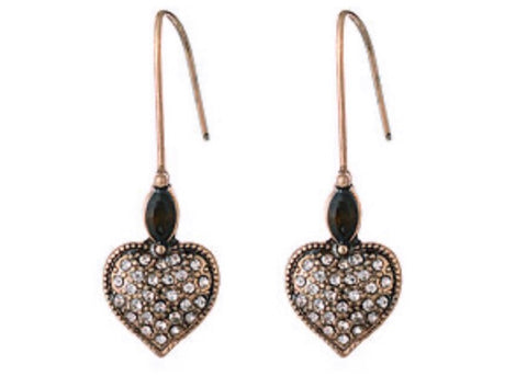 Heart Drop Earings