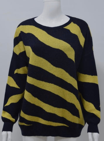 Zebra Cashmere Mix Jumper
