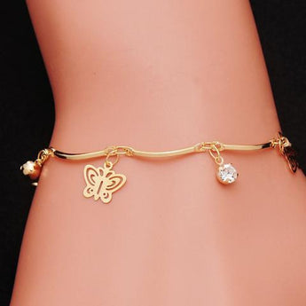 Butterfly Flying Free Charm Bracelet