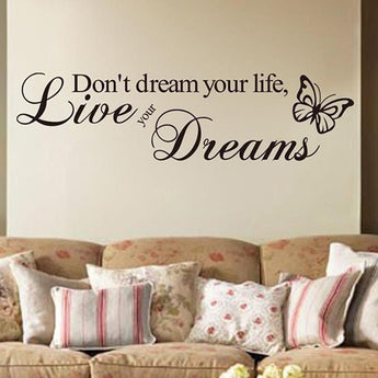 Live Your Dreams Butterfly Wall Sticker