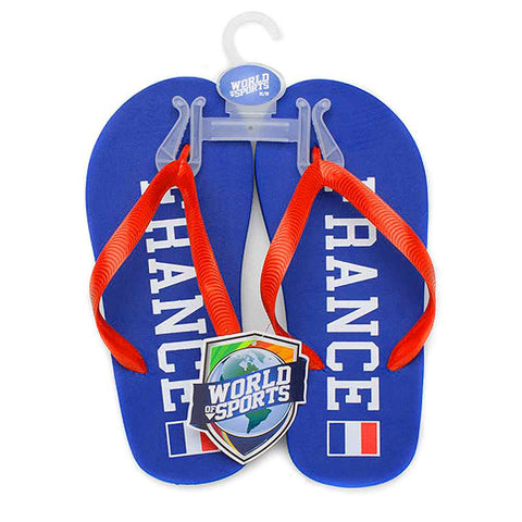 World of Sports Flip-Flops - France - Small,  [product_collection], DEFINITE Sporting Goods, [product_tags]- DEFINITE Sporting Goods
