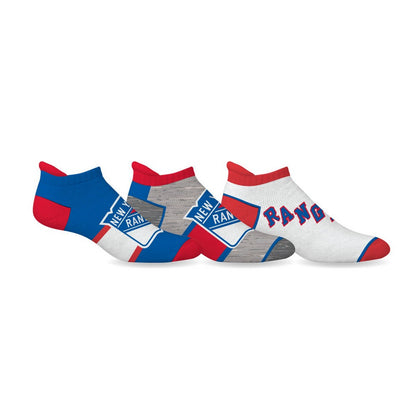 NHL New York Rangers Ankle Socks - 3 Pack,  [product_collection], DEFINITE Sporting Goods, [product_tags]- DEFINITE Sporting Goods