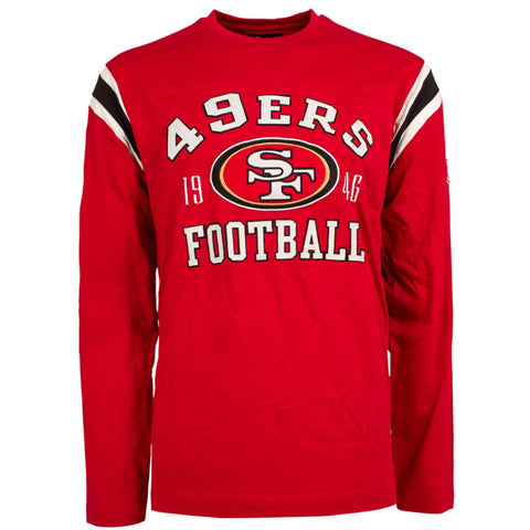 San Francisco 49ers NFL Lateral Felt Applique Long Sleeve Jersey T-Shirt - Small,  [product_collection], DEFINITE Sporting Goods, [product_tags]- DEFINITE Sporting Goods