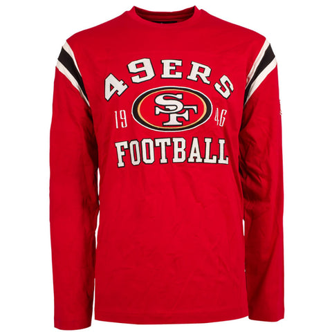 San Francisco 49ers NFL Lateral Felt Applique Long Sleeve Jersey T-Shirt,  [product_collection], DEFINITE Sporting Goods, [product_tags]- DEFINITE Sporting Goods