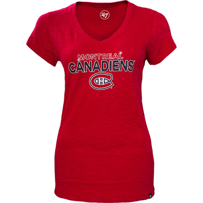 NHL Montreal Canadiens Crosstown V-Neck Scrum Tee - Womens - X-Large,  [product_collection], DEFINITE Sporting Goods, [product_tags]- DEFINITE Sporting Goods
