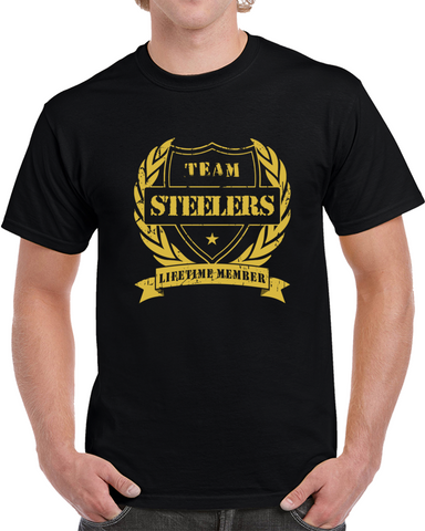 Pittsburgh Steelers Lifetime Member T Shirt,  [product_collection], DEFINITE Sporting Goods, [product_tags]- DEFINITE Sporting Goods