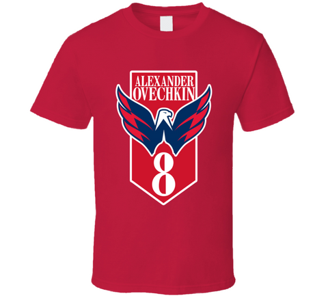 Ovechkin Captials Top T Shirt,  [product_collection], DEFINITE Sporting Goods, [product_tags]- DEFINITE Sporting Goods