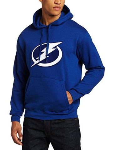 NHL Men's Tampa Bay Lightning Heat Seal Long Sleeve Hooded Fleece Pullover, Deep Royal,  [product_collection], DEFINITE Sporting Goods, [product_tags]- DEFINITE Sporting Goods