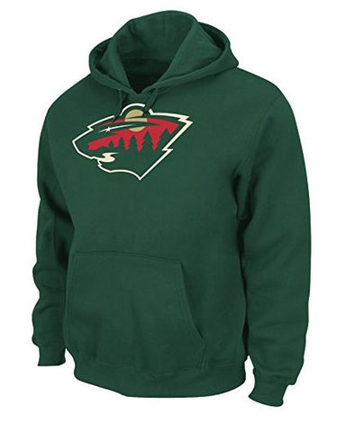 NHL Men's Minnesota Wild Heat Seal Long Sleeve Hooded Fleece Pullover Dark Green,  [product_collection], DEFINITE Sporting Goods, [product_tags]- DEFINITE Sporting Goods