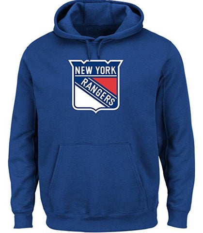 NHL Men's New York Rangers Heat Seal Long Sleeve Hooded Fleece Pullover Deep Royal,  [product_collection], DEFINITE Sporting Goods, [product_tags]- DEFINITE Sporting Goods