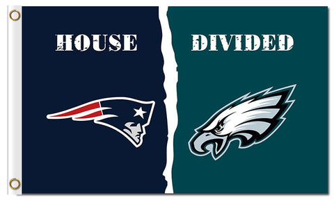 New England Patriots VS Philadelphia Eagles House Divided Flag 3ft x 5ft,  [product_collection], DEFINITE Sporting Goods, [product_tags]- DEFINITE Sporting Goods