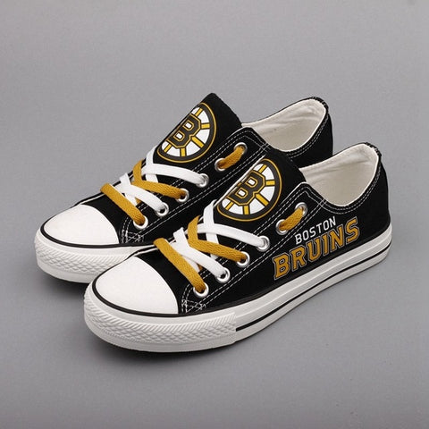 Boston Bruins Womens NHL Custom Canvas Shoes,  [product_collection], DEFINITE Sporting Goods, [product_tags]- DEFINITE Sporting Goods