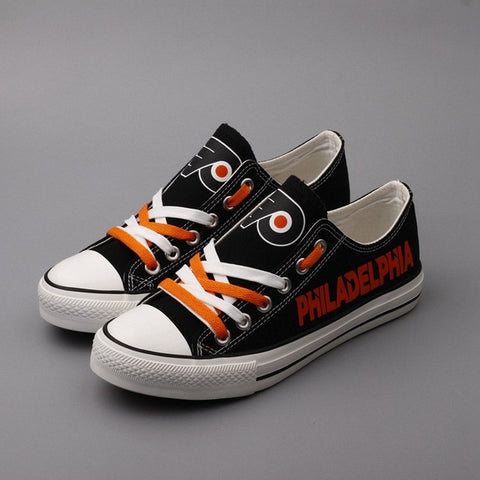 Philadelphia Flyers Womens NHL Custom Canvas Shoes,  [product_collection], DEFINITE Sporting Goods, [product_tags]- DEFINITE Sporting Goods