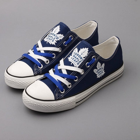 Toronto Maple Leafs Womens NHL Custom Canvas Shoes,  [product_collection], DEFINITE Sporting Goods, [product_tags]- DEFINITE Sporting Goods