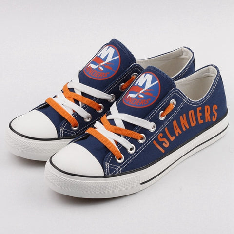 New York Islanders Womens NHL Custom Canvas Shoes,  [product_collection], DEFINITE Sporting Goods, [product_tags]- DEFINITE Sporting Goods