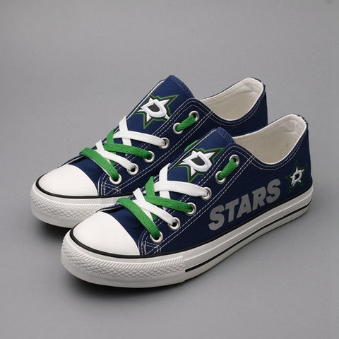 Dallas Stars Womens NHL Custom Canvas Shoes,  [product_collection], DEFINITE Sporting Goods, [product_tags]- DEFINITE Sporting Goods
