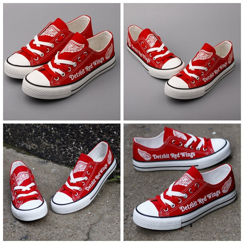 Detroit Red Wings Womens NHL Custom Canvas Shoes,  [product_collection], DEFINITE Sporting Goods, [product_tags]- DEFINITE Sporting Goods