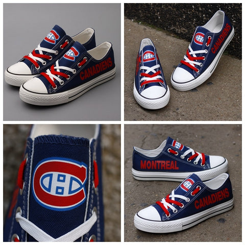 Montreal Canadiens Womens NHL Custom Canvas Shoes,  [product_collection], DEFINITE Sporting Goods, [product_tags]- DEFINITE Sporting Goods