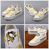 Pittsburgh Penguins Womens NHL Custom Canvas Shoes,  [product_collection], DEFINITE Sporting Goods, [product_tags]- DEFINITE Sporting Goods
