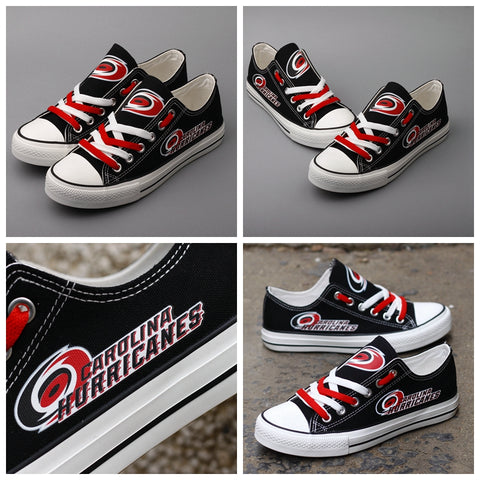 Carolina Hurricanes Womens NHL Custom Canvas Shoes,  [product_collection], DEFINITE Sporting Goods, [product_tags]- DEFINITE Sporting Goods