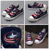 Columbus Blue Jackets Womens NHL Custom Canvas Shoes,  [product_collection], DEFINITE Sporting Goods, [product_tags]- DEFINITE Sporting Goods