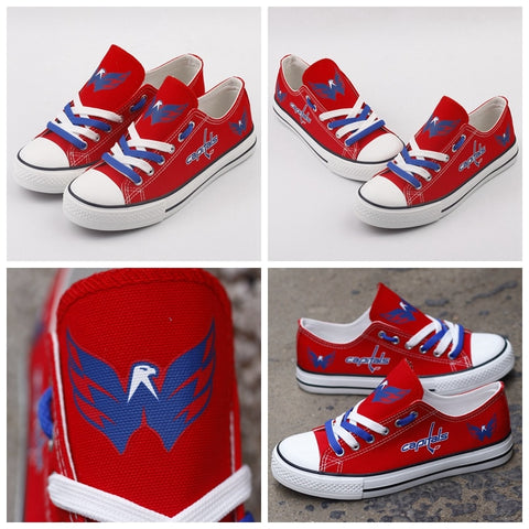 Washington Capitals NHL Custom Canvas Shoes,  [product_collection], DEFINITE Sporting Goods, [product_tags]- DEFINITE Sporting Goods