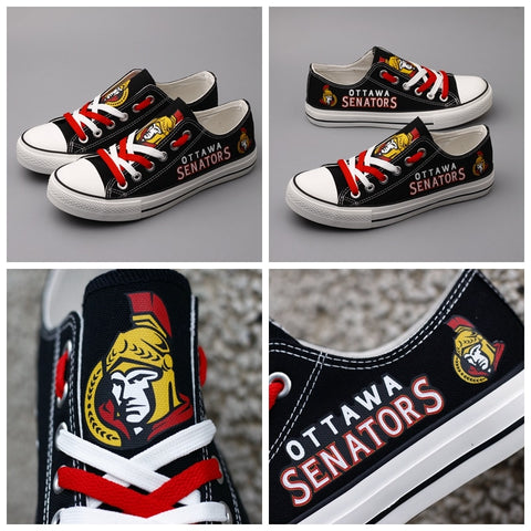 Ottawa Senators Womens NHL Custom Canvas Shoes,  [product_collection], DEFINITE Sporting Goods, [product_tags]- DEFINITE Sporting Goods