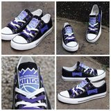 Sacramento Kings Womens NBA Custom Canvas Shoes,  [product_collection], DEFINITE Sporting Goods, [product_tags]- DEFINITE Sporting Goods