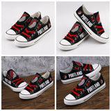 Portland Trailblazers Womens NBA Custom Canvas Shoes,  [product_collection], DEFINITE Sporting Goods, [product_tags]- DEFINITE Sporting Goods
