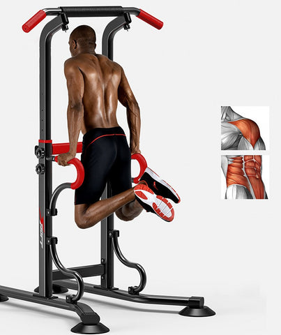 Multi-function Pull Up Bar and Dip Stand 5-7 Ft,  [product_collection], DEFINITE Sporting Goods, [product_tags]- DEFINITE Sporting Goods