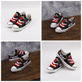 MIami Heat Womens Custom NBA Canvas Shoes,  [product_collection], DEFINITE Sporting Goods, [product_tags]- DEFINITE Sporting Goods