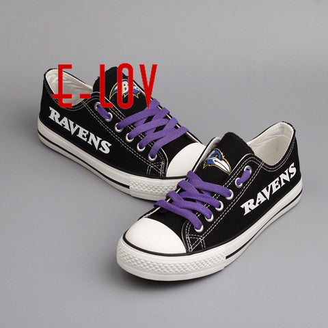 Baltimore Ravens NFL Canvas Shoes,  [product_collection], DEFINITE Sporting Goods, [product_tags]- DEFINITE Sporting Goods