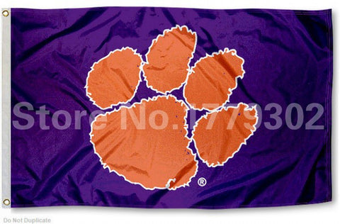 Clemson University Flag 3 ' X 5 ',  [product_collection], DEFINITE Sporting Goods, [product_tags]- DEFINITE Sporting Goods