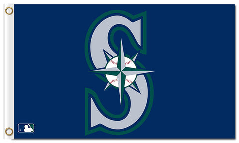 S Design Seattle Mariners Flag 3X5 Feet,  [product_collection], DEFINITE Sporting Goods, [product_tags]- DEFINITE Sporting Goods