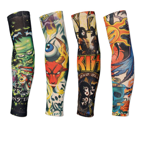 18 Colors 2pcs Sports Tattoo Arm Sleeves,  [product_collection], DEFINITE Sporting Goods, [product_tags]- DEFINITE Sporting Goods