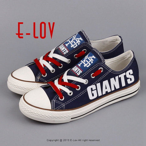 New York Giants NFL Canvas Shoes,  [product_collection], DEFINITE Sporting Goods, [product_tags]- DEFINITE Sporting Goods