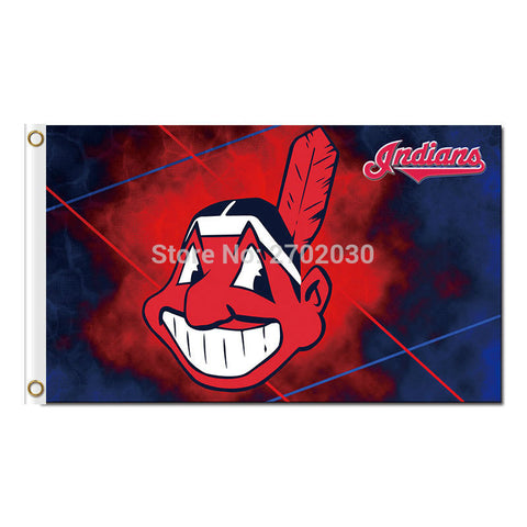 Cleveland Indians Flag 3X5 Feet MLB,  [product_collection], DEFINITE Sporting Goods, [product_tags]- DEFINITE Sporting Goods
