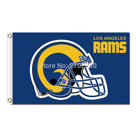 Helmet Los Angeles Rams Flag 3ft x 5ft,  [product_collection], DEFINITE Sporting Goods, [product_tags]- DEFINITE Sporting Goods
