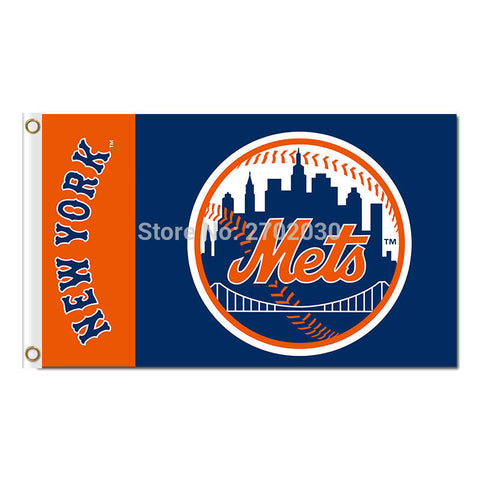 New York Mets Flag 3X5 Feet MLB,  [product_collection], DEFINITE Sporting Goods, [product_tags]- DEFINITE Sporting Goods