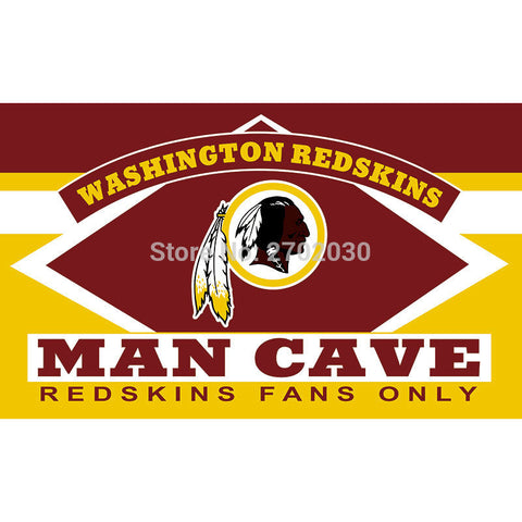 Washington Redskins MAN CAVE Flag 3ft X 5ft,  [product_collection], DEFINITE Sporting Goods, [product_tags]- DEFINITE Sporting Goods