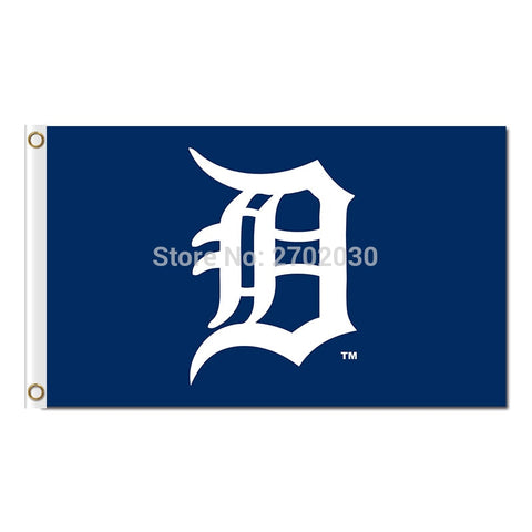 Blue Detroit Tigers Flag Baseball Flags 3x5ft,  [product_collection], DEFINITE Sporting Goods, [product_tags]- DEFINITE Sporting Goods