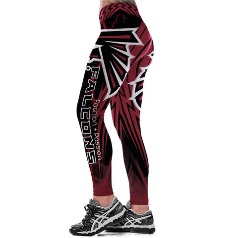 NFL Atlanta Falcons Fitness Leggings,  [product_collection], DEFINITE Sporting Goods, [product_tags]- DEFINITE Sporting Goods