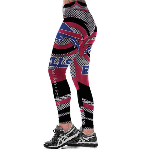 NFL Buffalo Bills Fitness Leggings,  [product_collection], DEFINITE Sporting Goods, [product_tags]- DEFINITE Sporting Goods