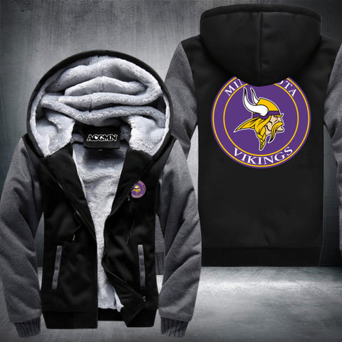 Minnesota Vikings Logo Hoodie Grey,  [product_collection], DEFINITE Sporting Goods, [product_tags]- DEFINITE Sporting Goods