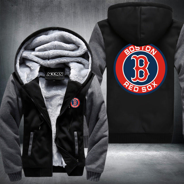 new concept f6787 29a8d Boston Red Sox Logo Hoodie Grey