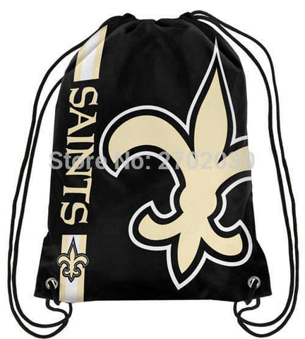 NFL New Orleans Saints Drawstring Bag NFL,  [product_collection], DEFINITE Sporting Goods, [product_tags]- DEFINITE Sporting Goods
