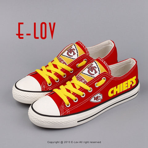 Kansas City Chiefs Canvas Shoes,  [product_collection], DEFINITE Sporting Goods, [product_tags]- DEFINITE Sporting Goods