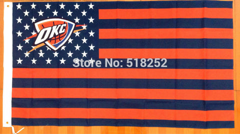 Oklahoma City Thunder USA Flag 3x5 FT,  [product_collection], DEFINITE Sporting Goods, [product_tags]- DEFINITE Sporting Goods