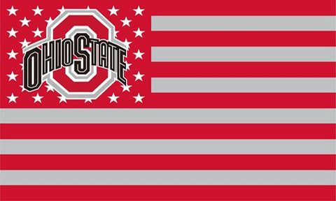 Ohio State Buckeyes USA Flags 3X5 FT,  [product_collection], DEFINITE Sporting Goods, [product_tags]- DEFINITE Sporting Goods