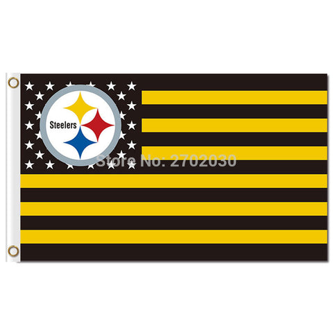 NFL Pittsburgh Steelers USA Flag 3x5 Feet,  [product_collection], DEFINITE Sporting Goods, [product_tags]- DEFINITE Sporting Goods
